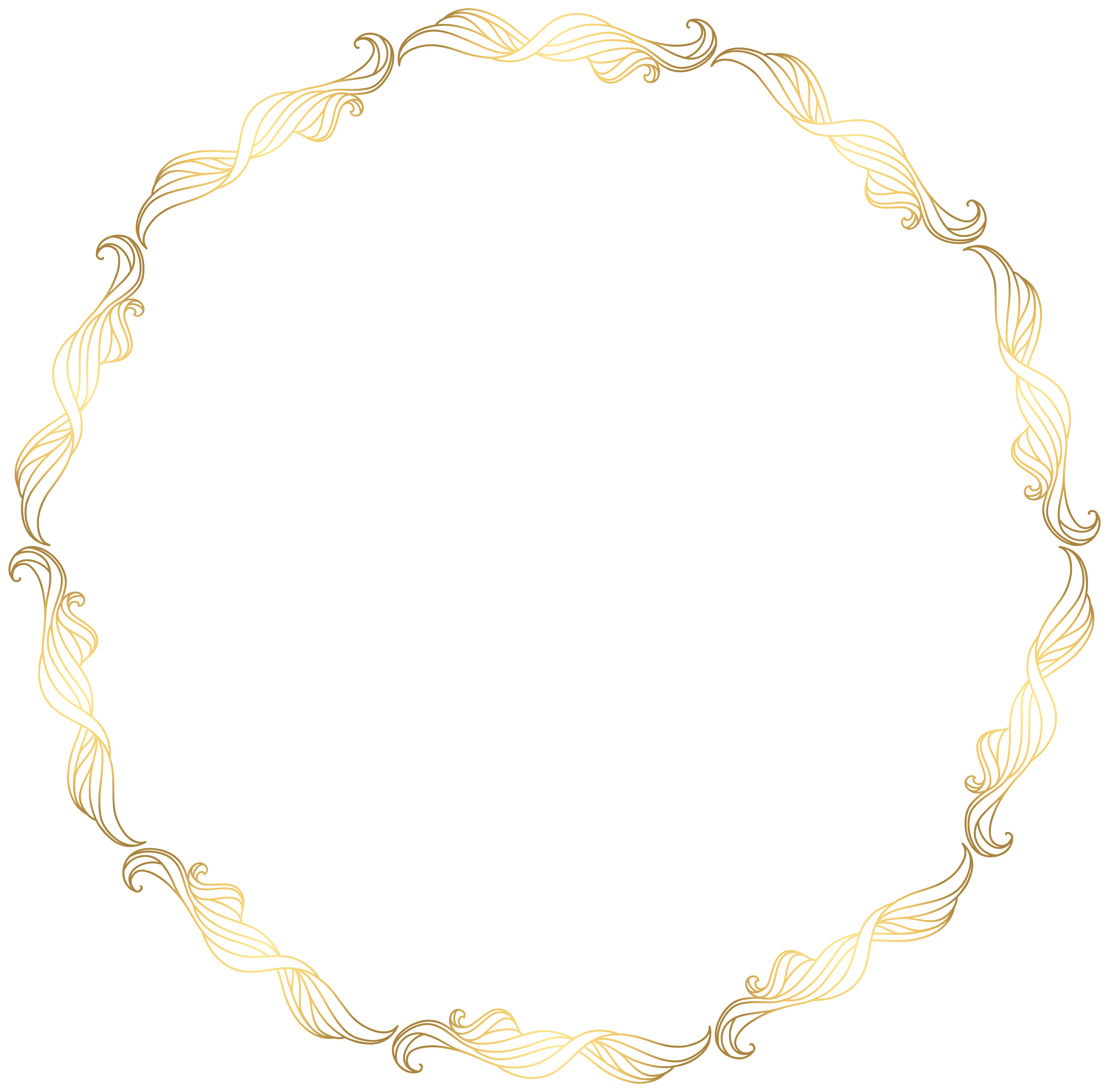 Necklace round gold