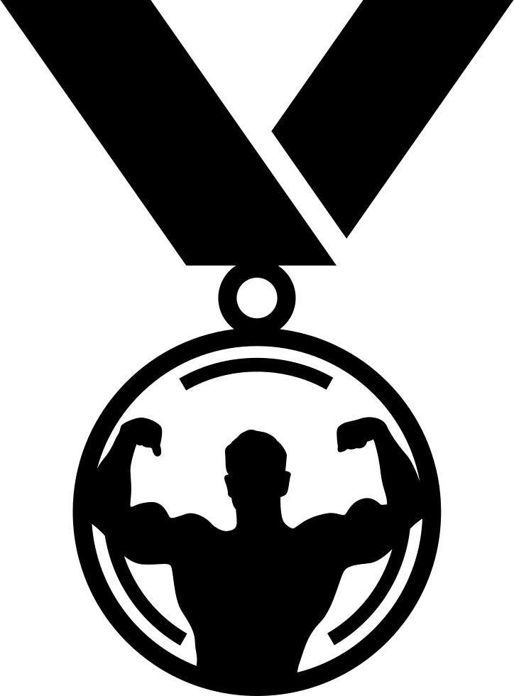 Necklace svg male. Sportive medal png icon