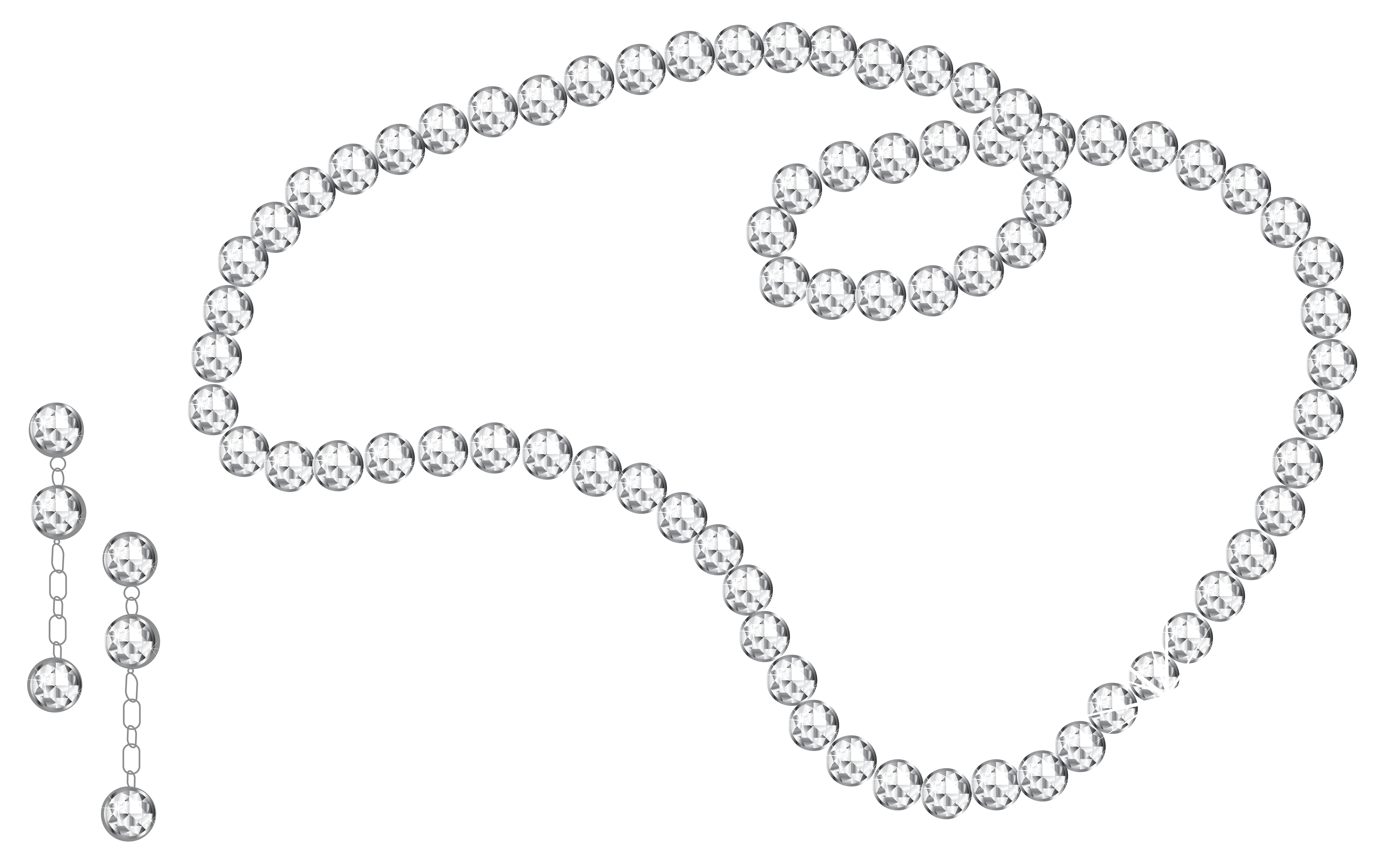 Necklace svg silhouette vector. Pearl clipart transparent