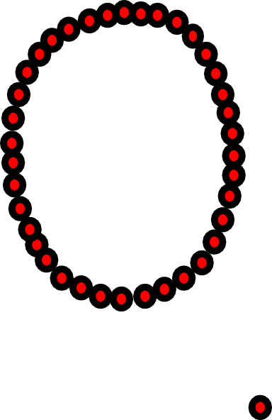 Necklace vector png. Clip art at clker