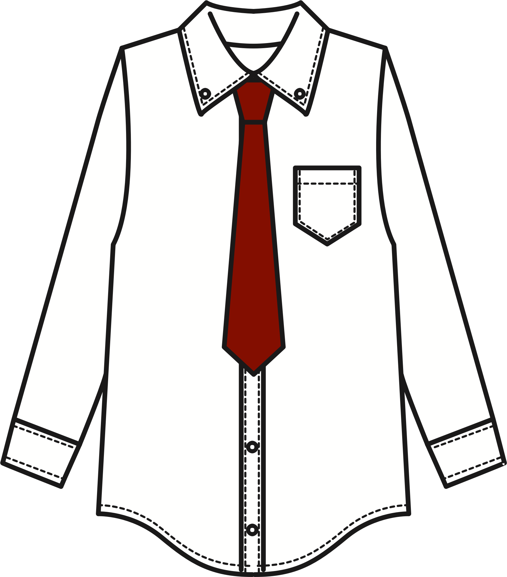 Necktie drawing shirt tie. Collection of png