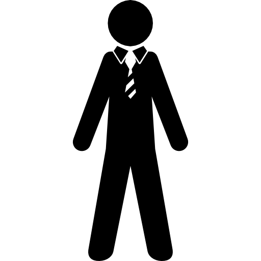 Necktie vector suit. Man wearing and tie