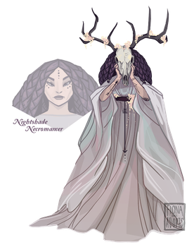 Necromancer drawing. Closed adopt nightshade by