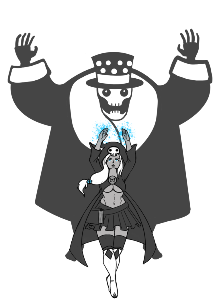 Necromancer drawing black and white. The s apprentice sable
