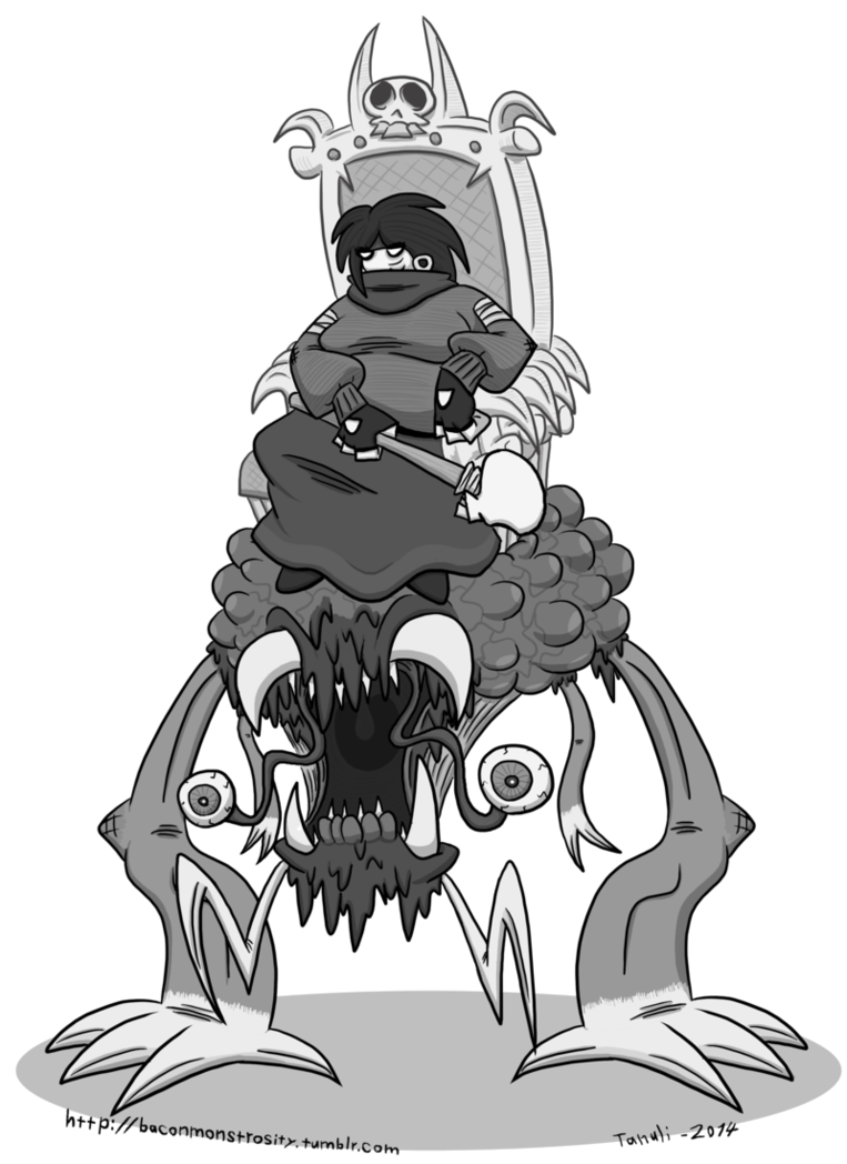 Necromancer drawing black and white. Necromuncher by kernaalitanuli on