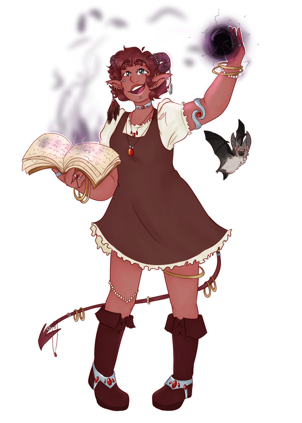 Necromancer drawing warforged. Oc adorable tiefling and