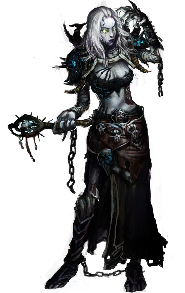 Necromancer drawing female. Undead priest png art