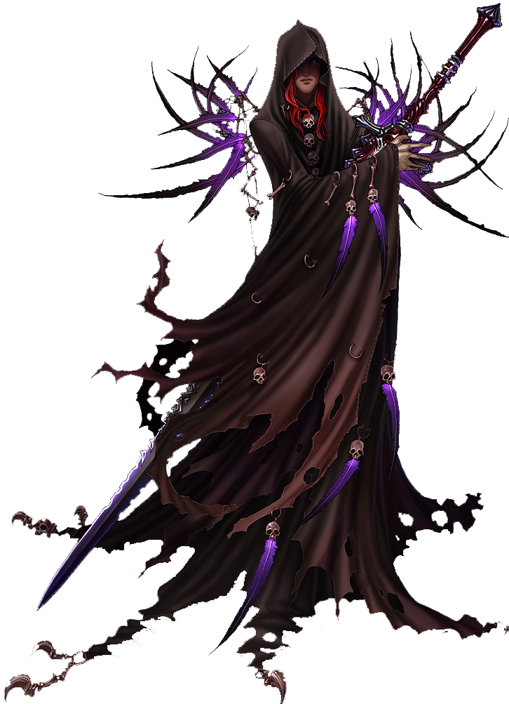 Necromancer drawing human. Commission guide render by