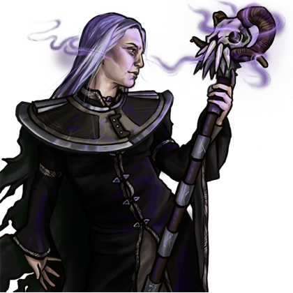 Necromancer drawing noble.