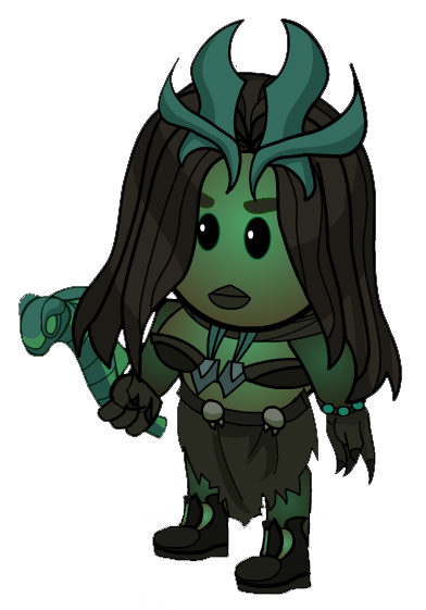 Necromancer drawing plant. Image avatar png town