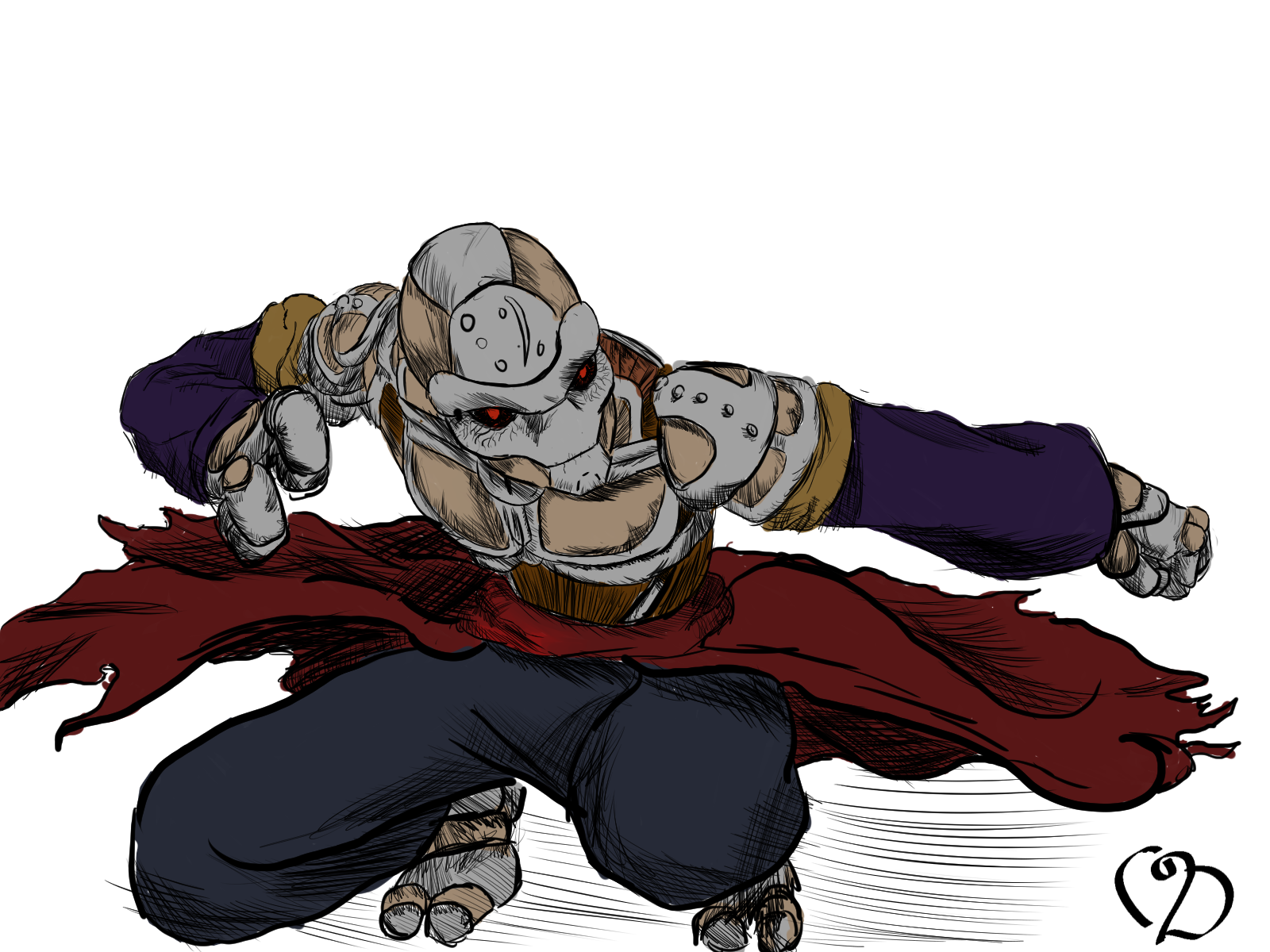 Necromancer drawing warforged. Tranquility a monk dnd