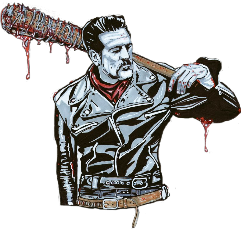 Negan drawing. About the artist oscar