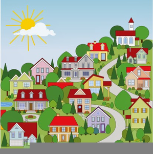 Community clipart residential community. Neighborhood free images at