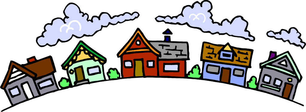 Community clipart residential community. Neighborhood unity lds s