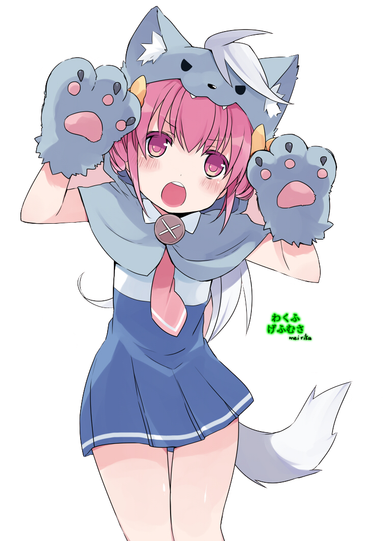 Neko girl png. Manga cat nyan render