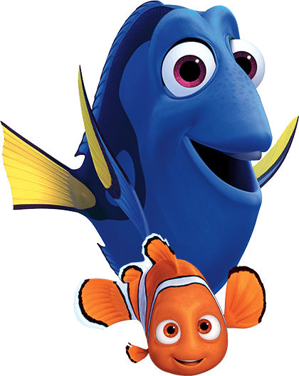 Nemo and dory png. Disney pixar s finding