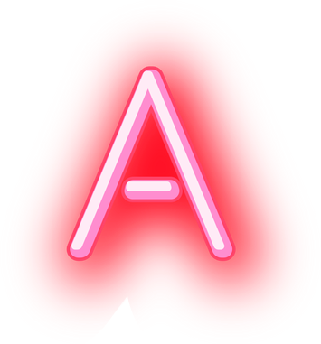 Neon alphabet png. Letters abc sticker by
