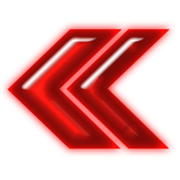 Neon arrow png. File double red left