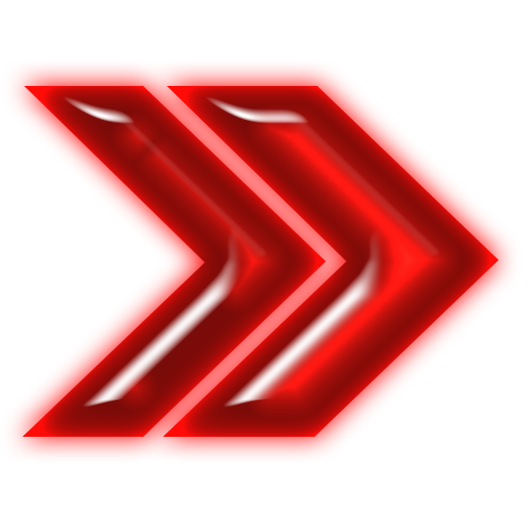 Neon arrow png. File double red right