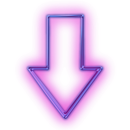 Neon arrow png. Glowing purple icon