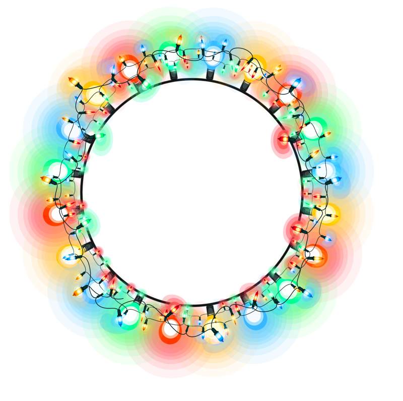 Neon transparent circle. Png vector clipart psd