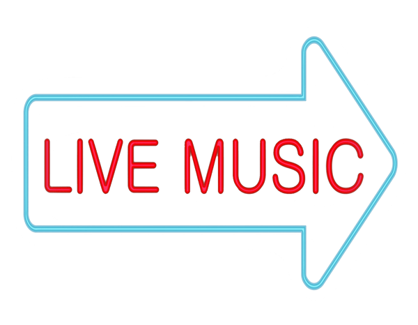 Neon background png. Live music sign transparent