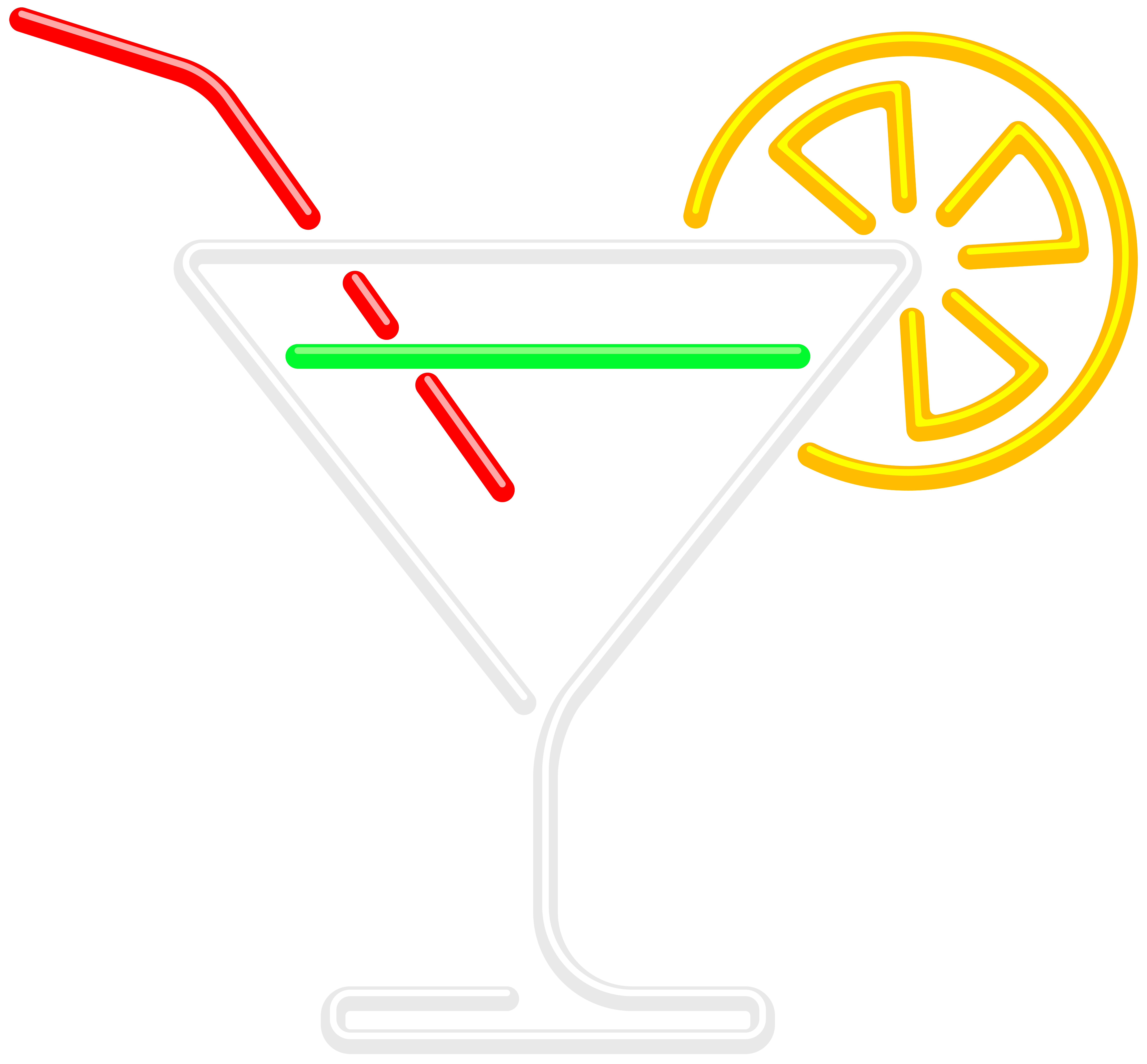 Neon background png. Cocktail clip art image