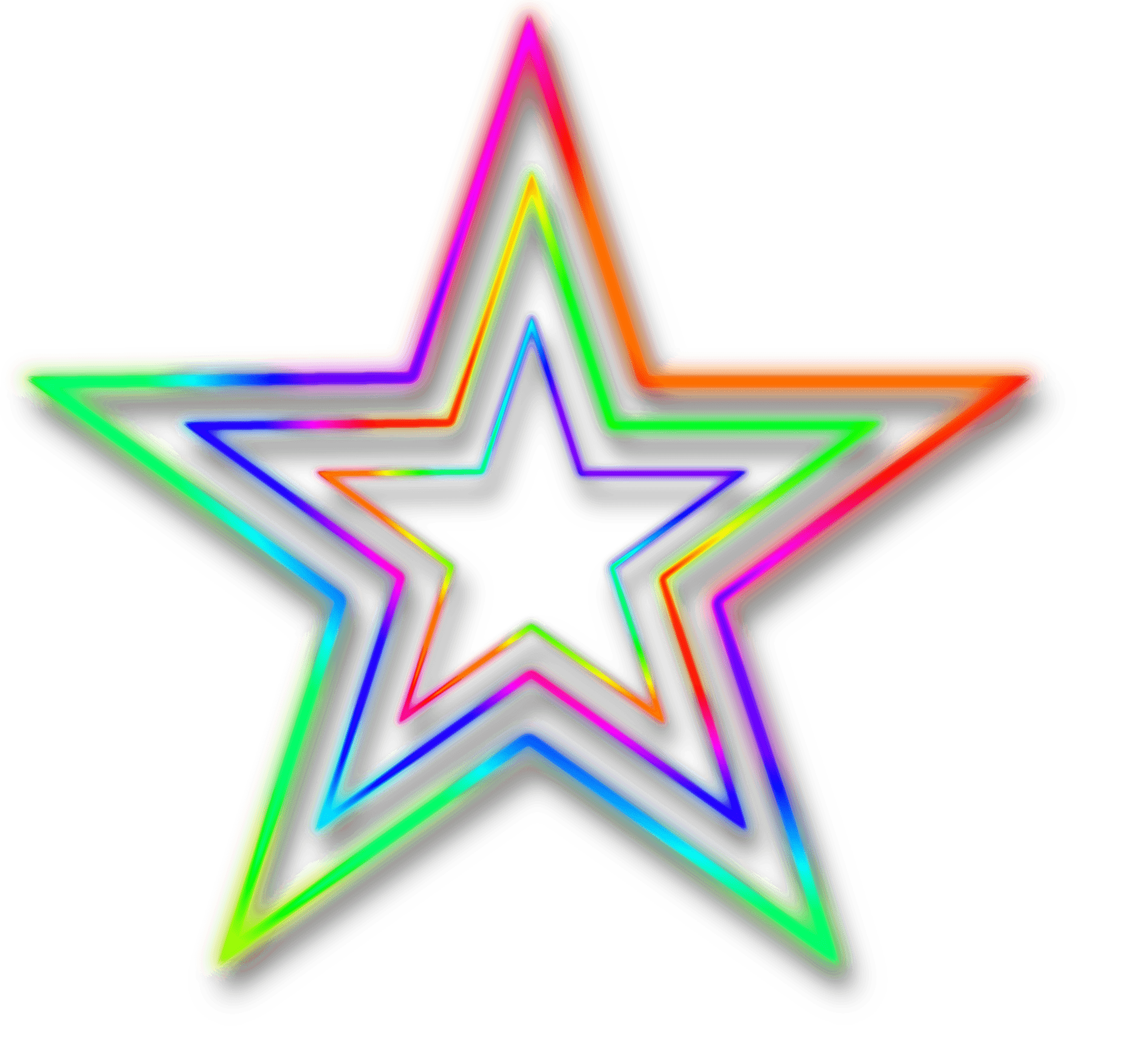 Star transparent stickpng. Neon background png vector transparent stock