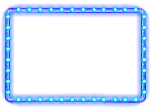 Neon glow png. Border frame ftestickers report
