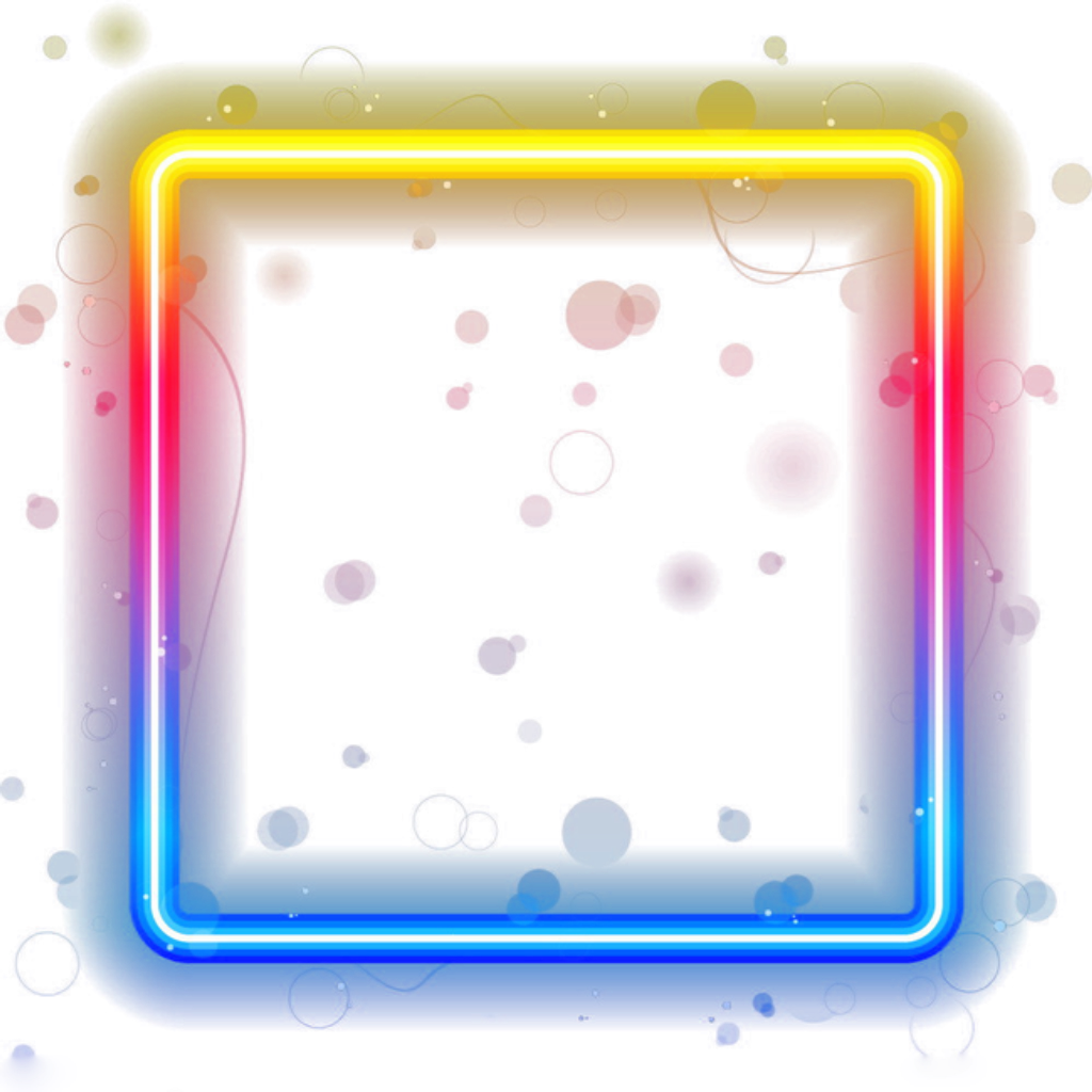 Neon border png. Ftestickers frame sticker by