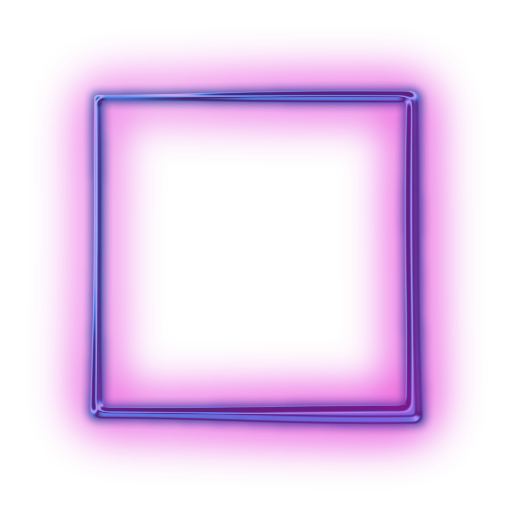 Neon border png. Square transparent pictures free