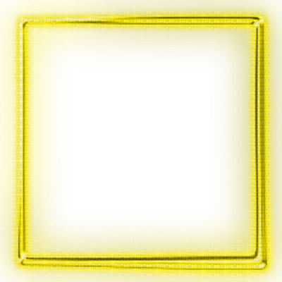 Neon square png. Yellow glowing frame picmix