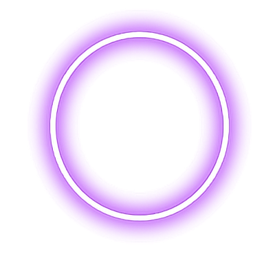 Neon circle png. Round shapes circles purple