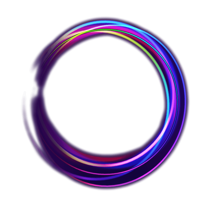 Neon circle png. Clc home
