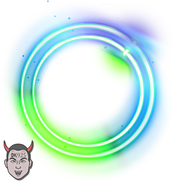 Neon circle png. Official psds