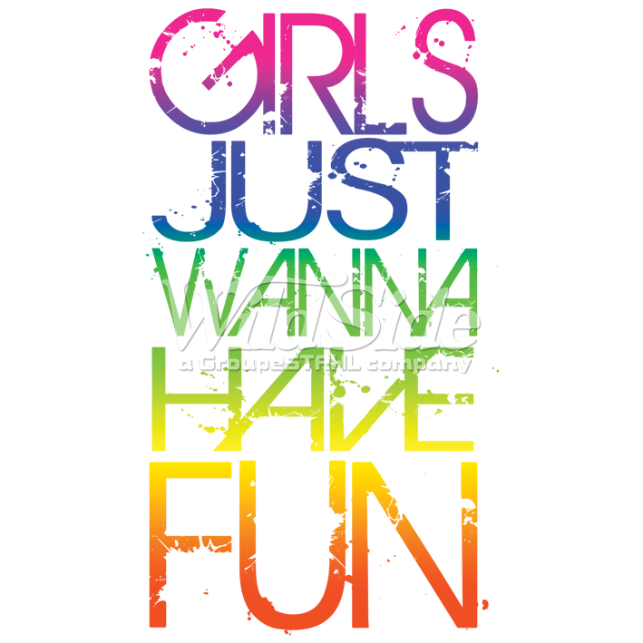 Neon fun png. Girls just a wanna