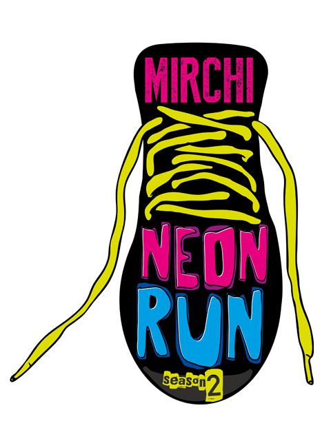 Neon fun png. Mirchi run most premium