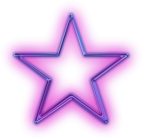 Neon glow png. Star purple glowing snapchat