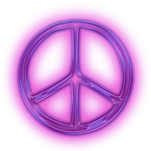 Neon glow png. Image glowing purple icon