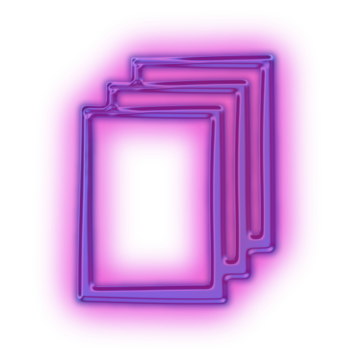 neon square png
