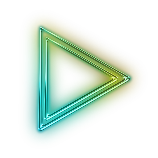Neon transparent glowing triangle. Index of sites centrelacroisee