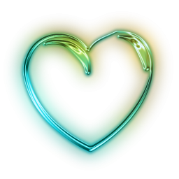 Neon heart png. Free icon download email