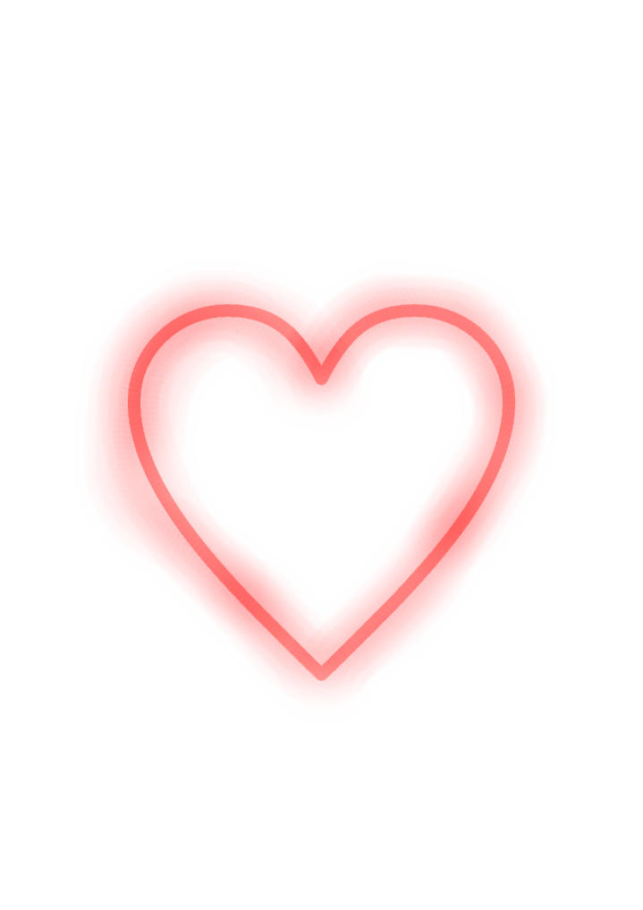 Neon heart png. Red light sticker by