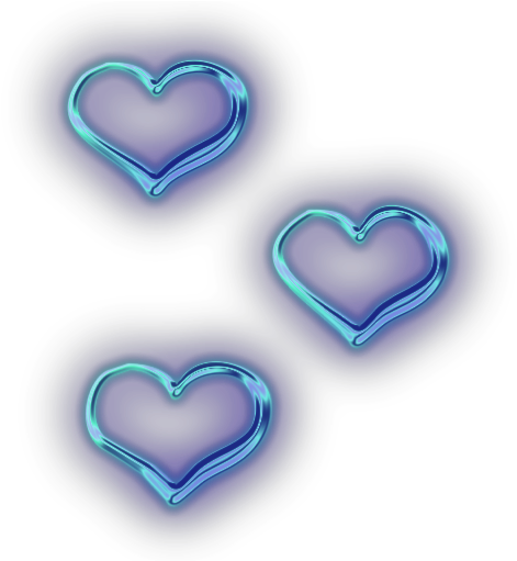 Neon heart png. Download hearts tumblr ftestickers