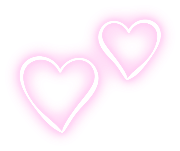 Neon heart png. Love cute lovely pink