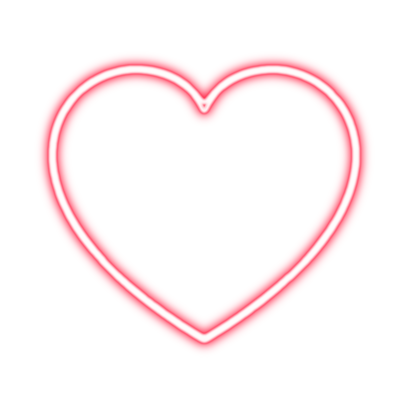 Neon heart png. By tessa on deviantart