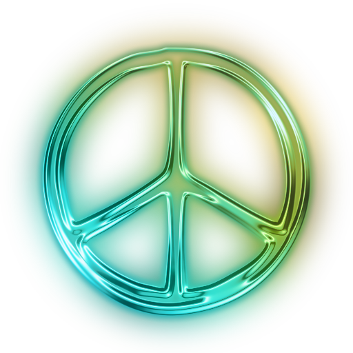 Neon icon png. Image glowing green symbols