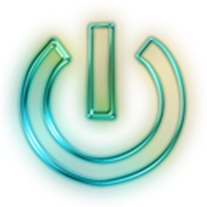 Neon icon png. Glowing green symbols