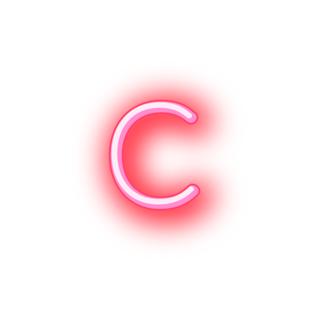Neon letter png. C sticker by stickers