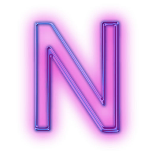 Neon letter png. Vector n free icons